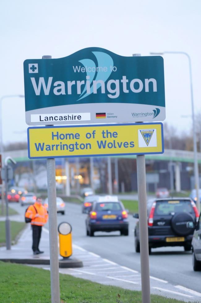 A spoof sign has previously been put up on Winwick Road