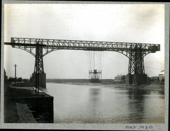 Warrington Transporter Bridge in 1920 (Reproduced with kind permission of Unilever)