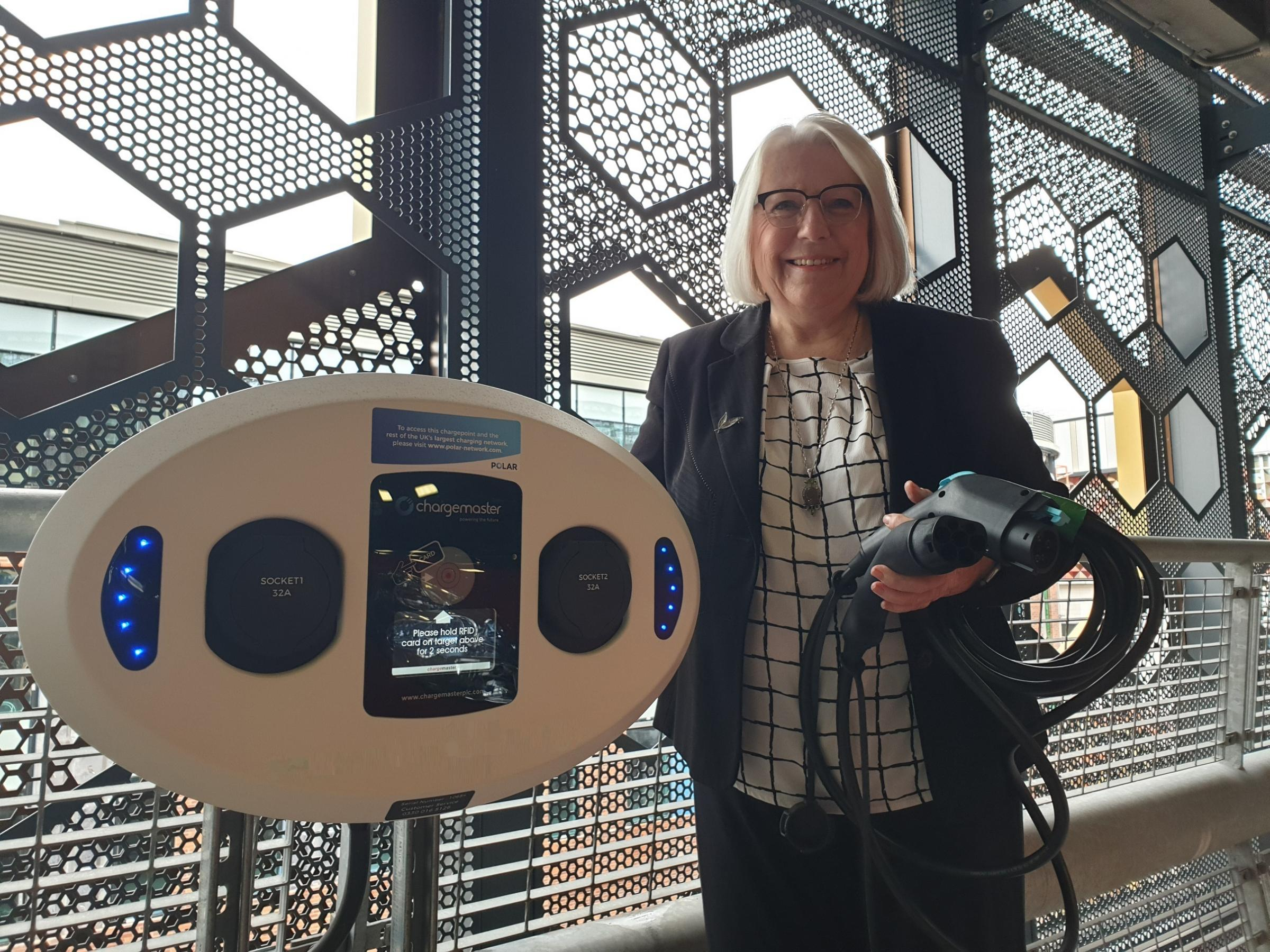 Council support Clean Air Day with new electric charging points in Time Square