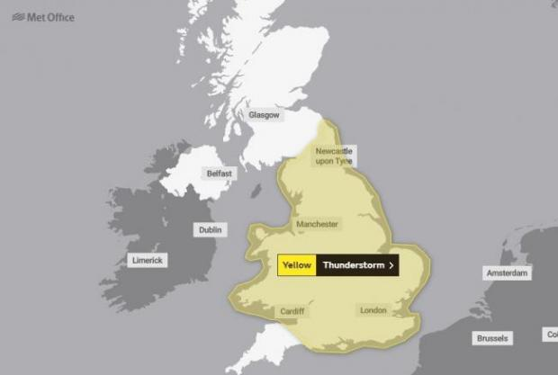 Warrington Guardian: Met Office