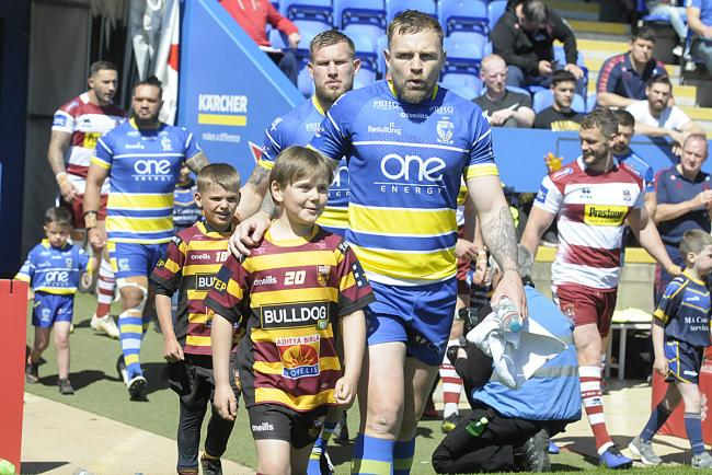 Your child could be a mascot at Friday's Warrington-St Helens clash. Picture by Mike Boden