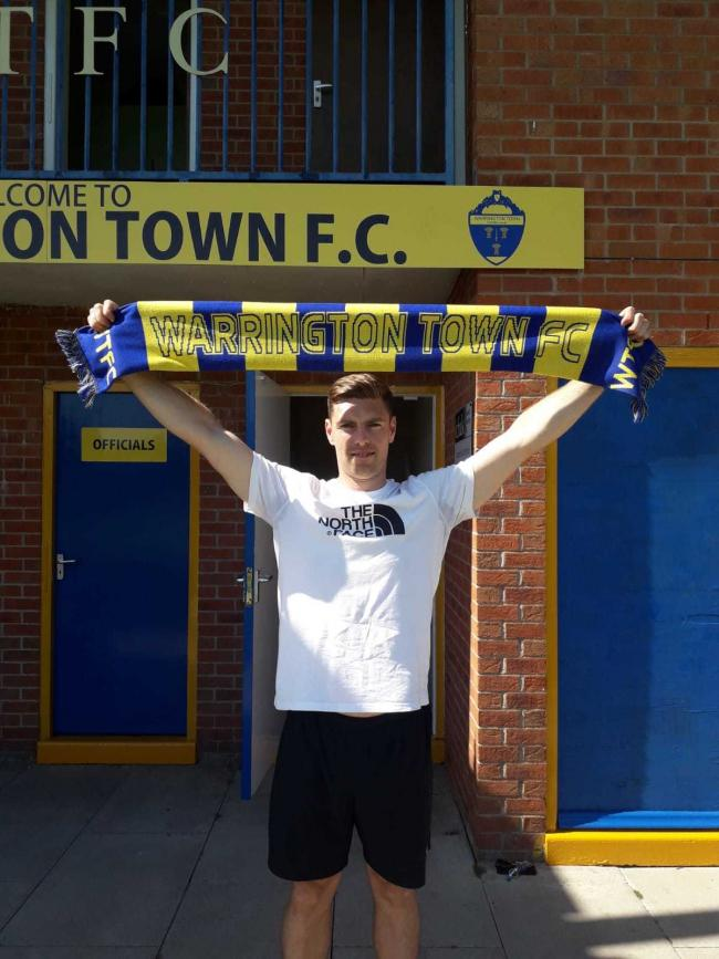 Scott Sephton is Warrington Town's second new signing of the summer