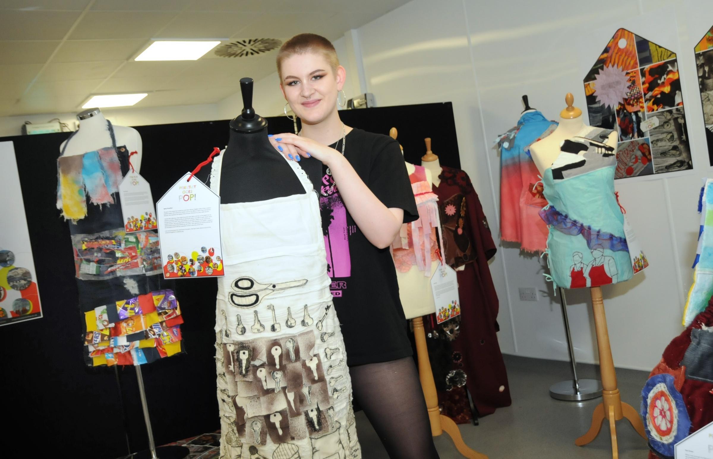 Priestley College students' artwork brightens up Warrington Market