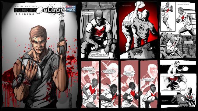 Rugby Blood Origins comic