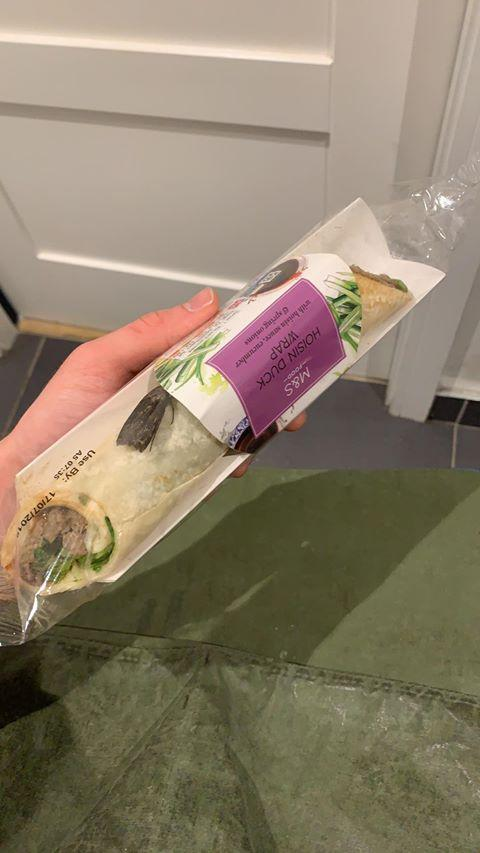 Warrington Guardian: The moth was still alive inside the wrap