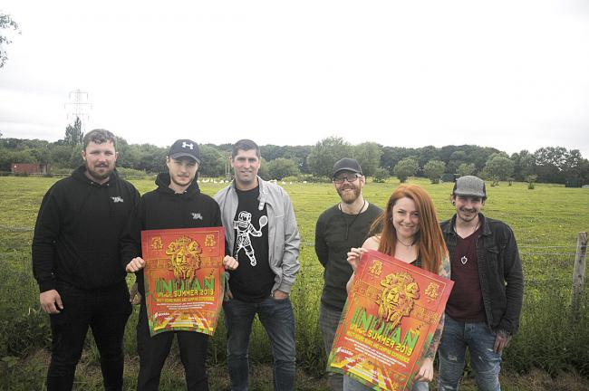 Organisers and artists at the Moat Lane festival site 	        Picture: Mike Boden