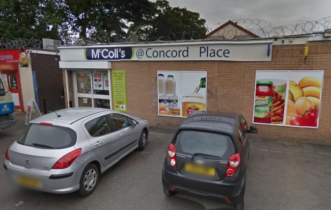 The McColl's on Concorde Place in Orford was targeted in an armed robbery last night. Picture by Google Maps.