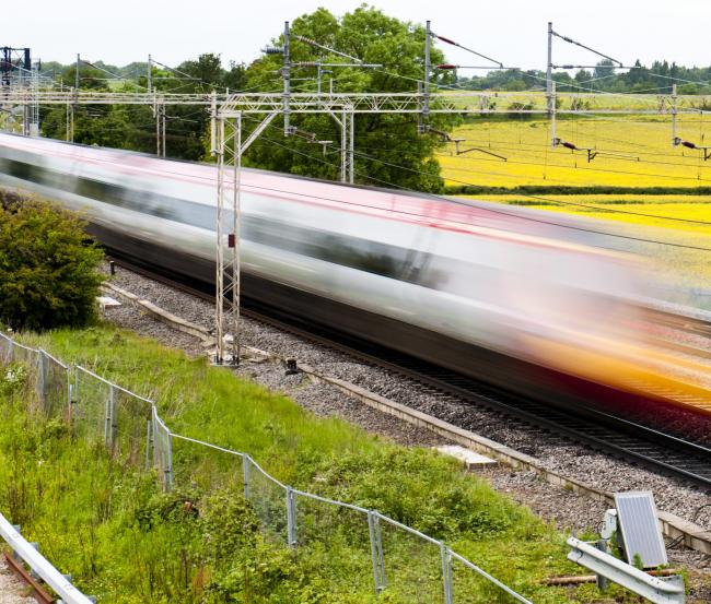 High Speed trains will travel from London to the North of England.
