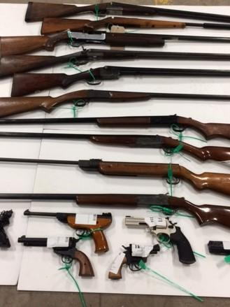 Some of the weapons seized during the two-week gun amnesty.