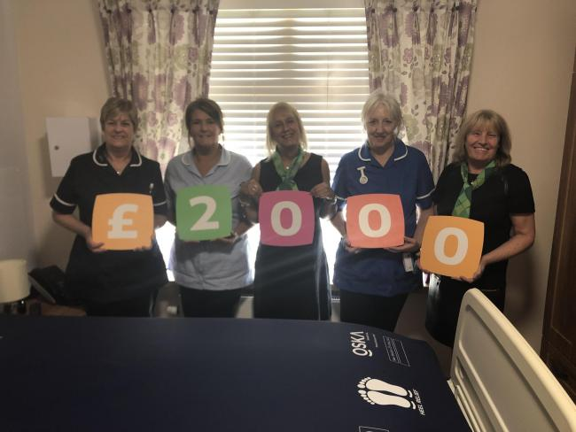 St Rocco's receives a donation of £2000