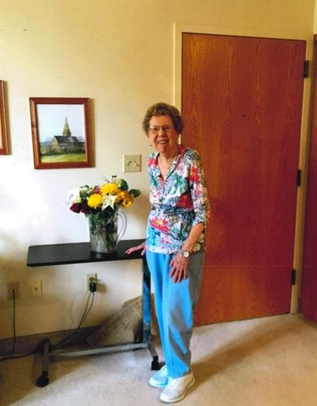 May Bloom in her home in Peoria, Illinois