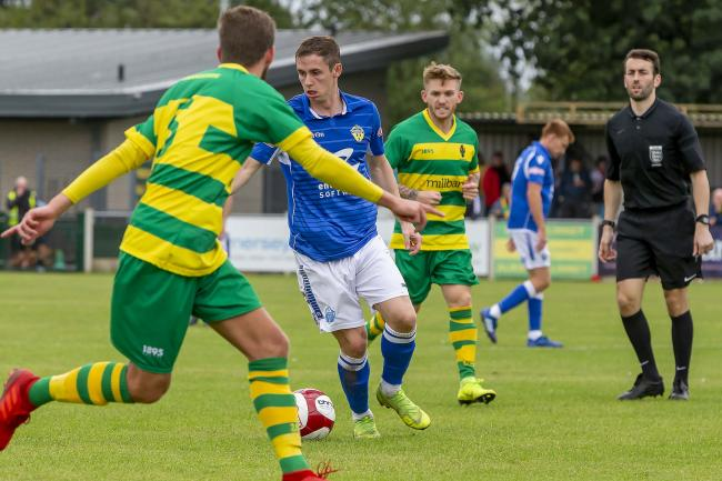 Alex Byrne continued his promising pre-season form with another goal against Runcorn Linnets. Picture by John Hopkins