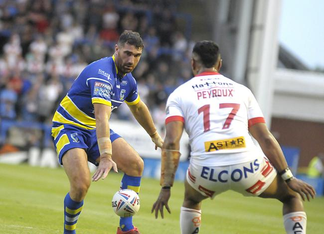 Matty Smith on his Super League debut for Warrington Wolves. Picture: Mike Boden