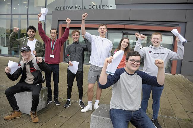 Youngsters at Barrow Hall in Great Sankey celebrating