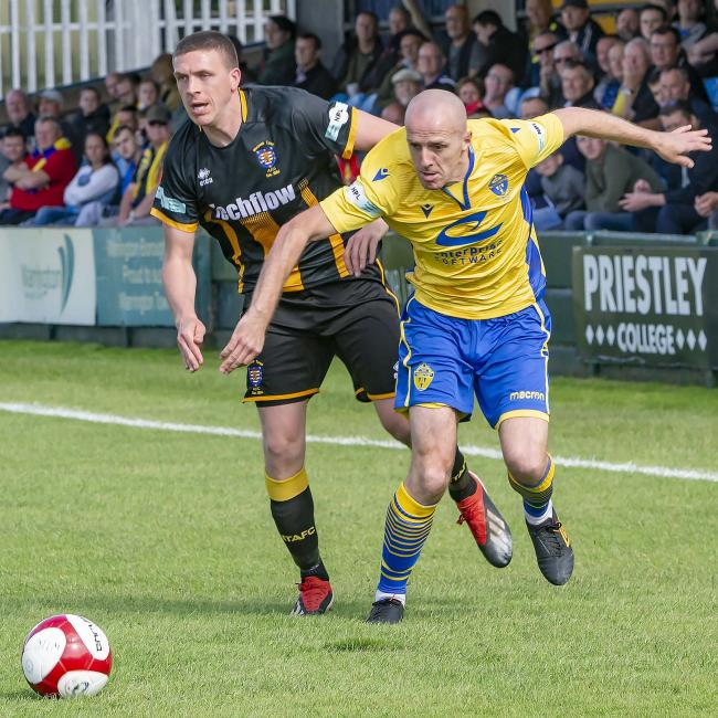Tony Gray was quiet in the defeat to Morpeth. Picture by John Hopkins