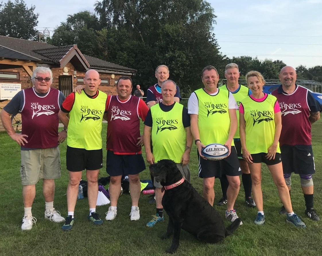Moore RUFC and Sale Sharks start new walking rugby team
