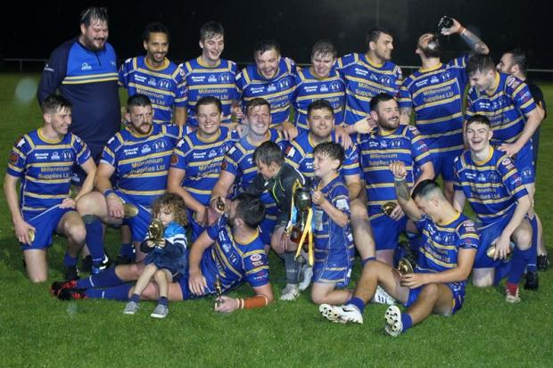 Crosfields A celebrate retaining the Warrington Alliance Cup