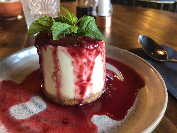Warrington Guardian: The white chocolate and raspberry cheesecake