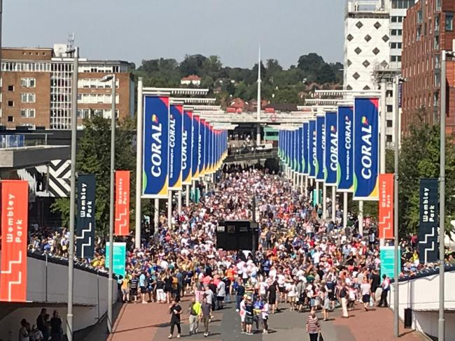 Wembley Way on Challenge Cup Final day last year