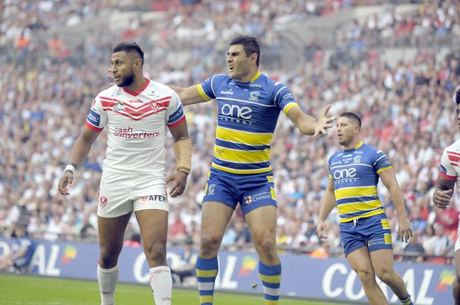 Last year's Challenge Cup Final at Wembley between St Helens and Warrington Wolves. Picture: Mike Boden