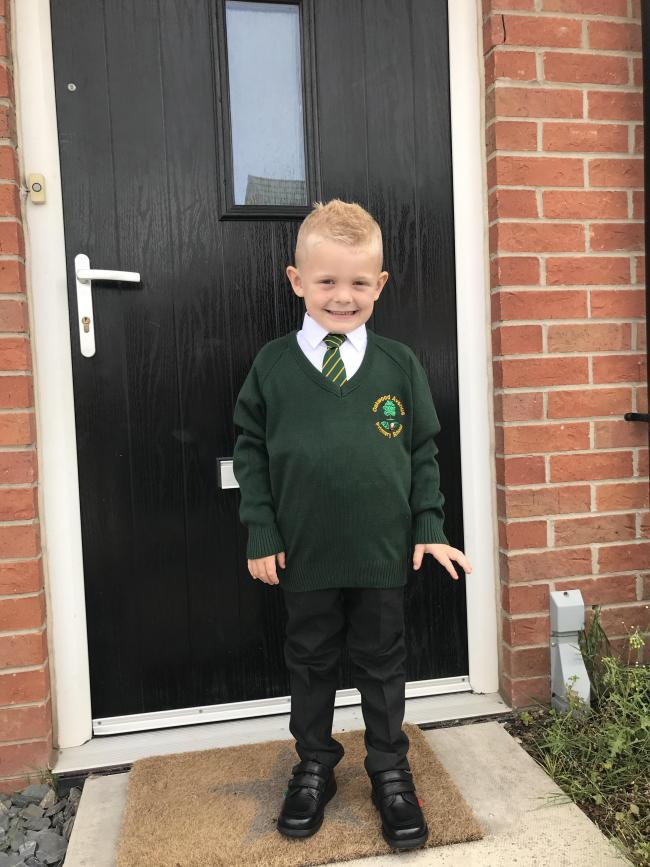 Billy Holbrook - starting Oakwood Avenue Nursery   Charlie Holbrook - 1st day in Reception at Oakwood Avenue Primary School