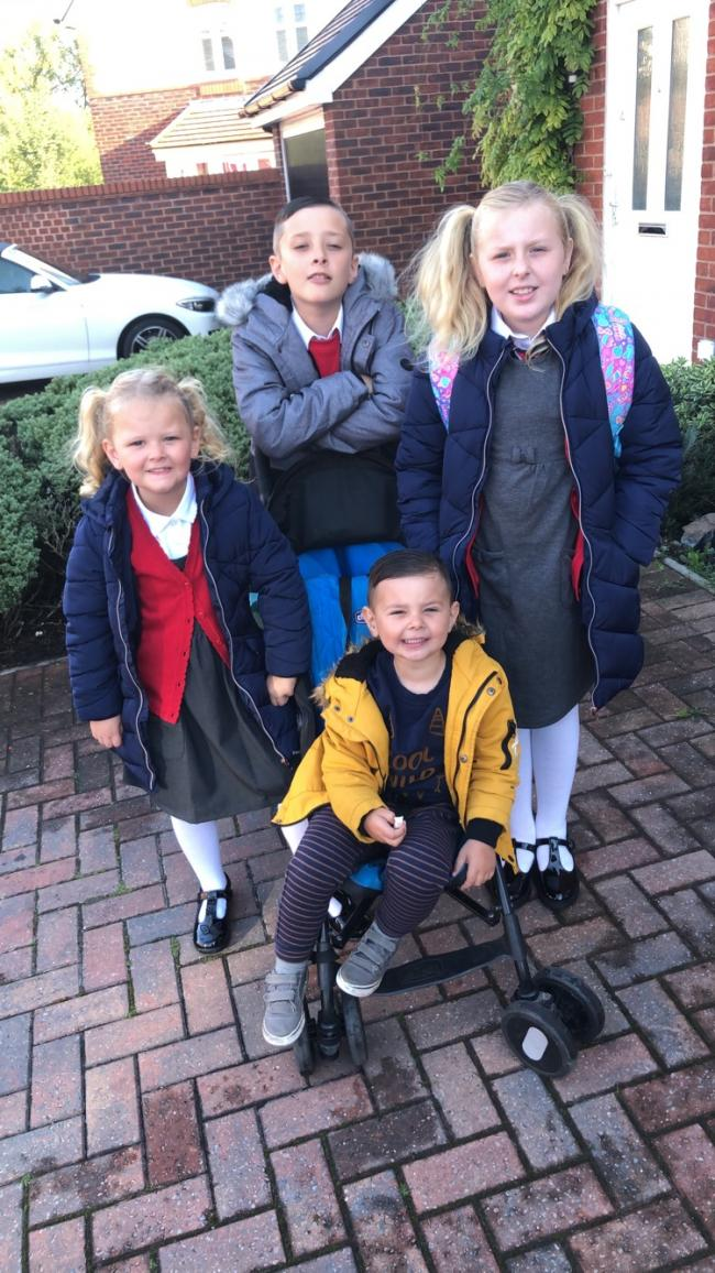 Coby year 6, bryleigh-Rae year 4, georgi-belle reception in Stockton Heath primary & Tenby in little lots nursery