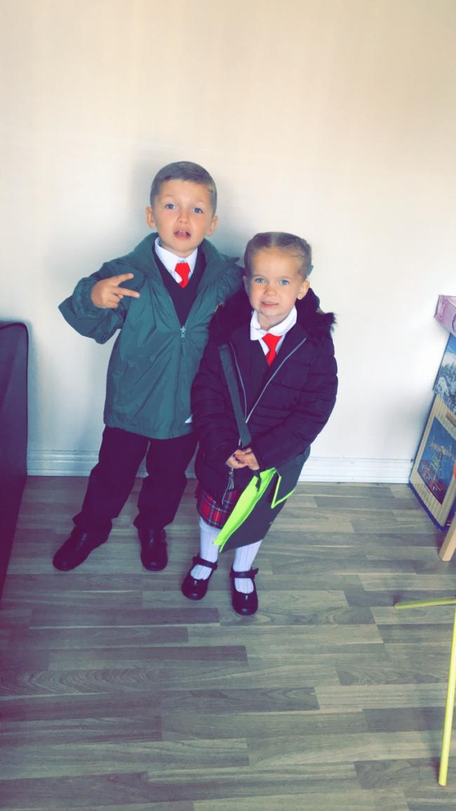 Iylia-mae first day in reception & kai's First day in year one in st Bridget's ❤️