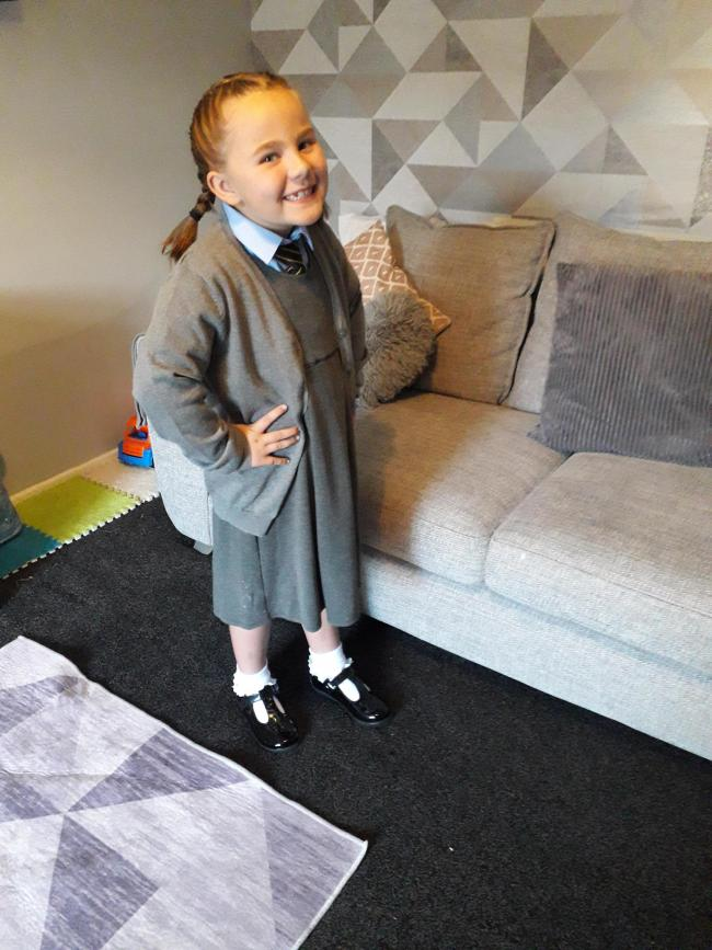 First day back to St. Benedict's Catholic Primary and into Year2 for my girl Millie Ross!