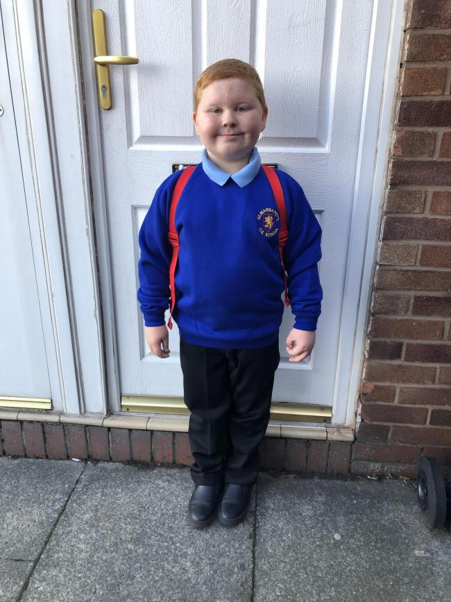 Max Williams First day in year 3. St Margaret's C of E primary school
