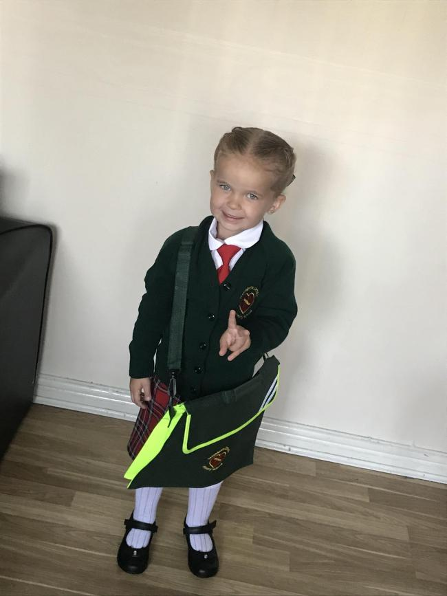Iylia-mae first day of reception st Bridget's ❤️