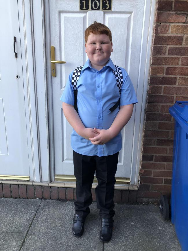 James Thompson first day in year 6 @ St Margaret's c of e primary school