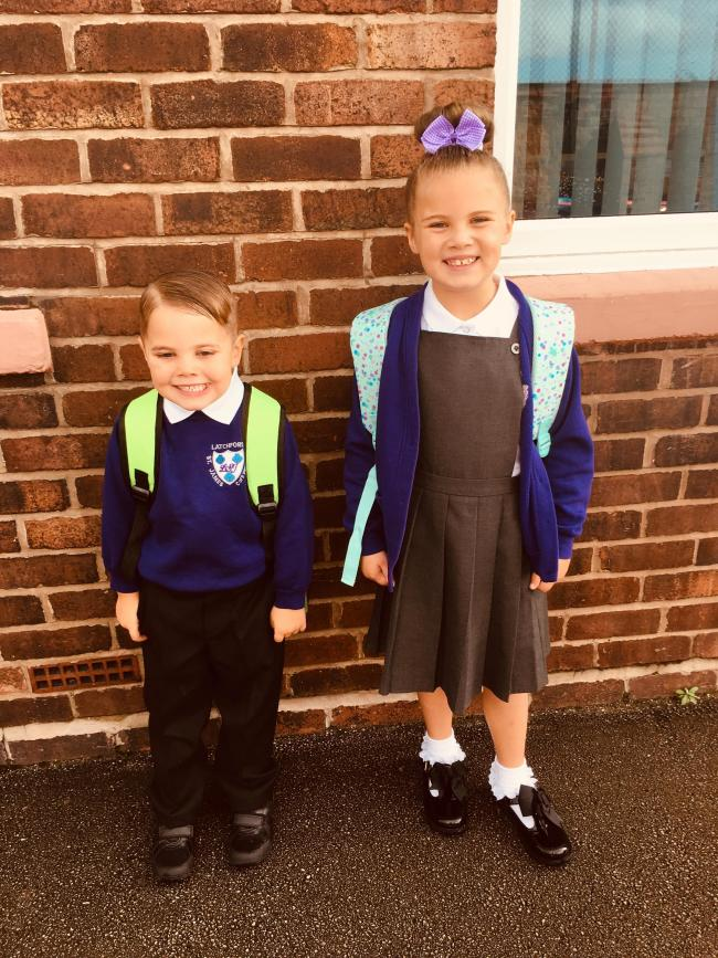 Summer & Leo Smith ready for year 1 and year 3 at latchford st James
