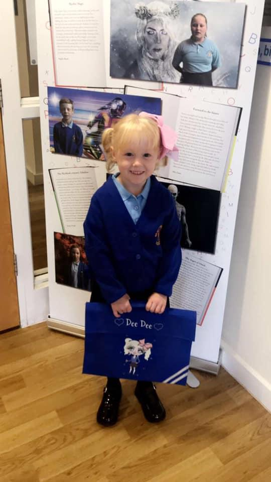 Dee Dee starting Year 1 at St Margarets CE Primary