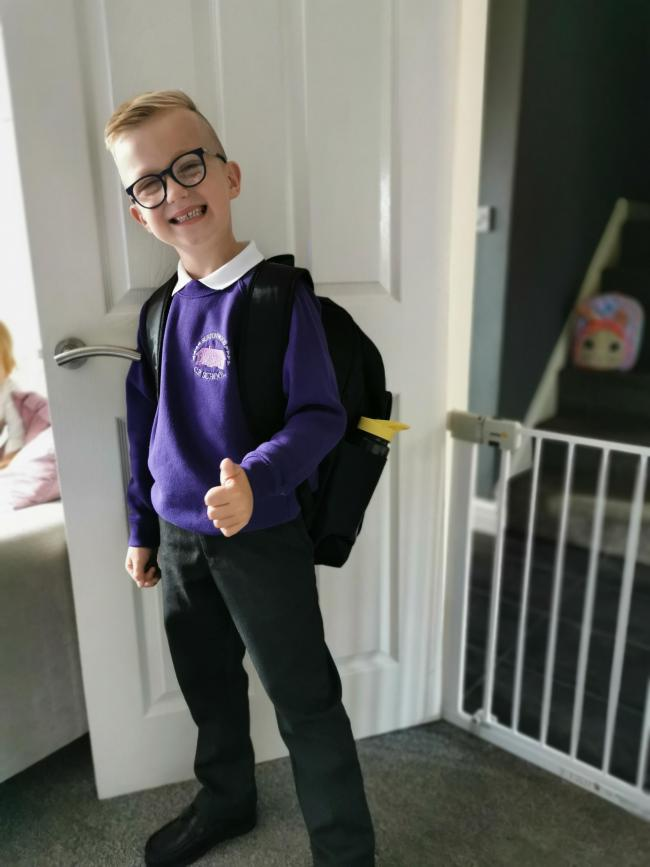 Eddie Costain Starting Year 1 at Burtonwood Primary