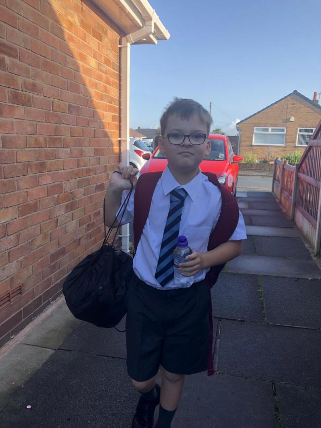 Nathan Lester first day at Kings and James Lester going to Christ church ce primary to year 4