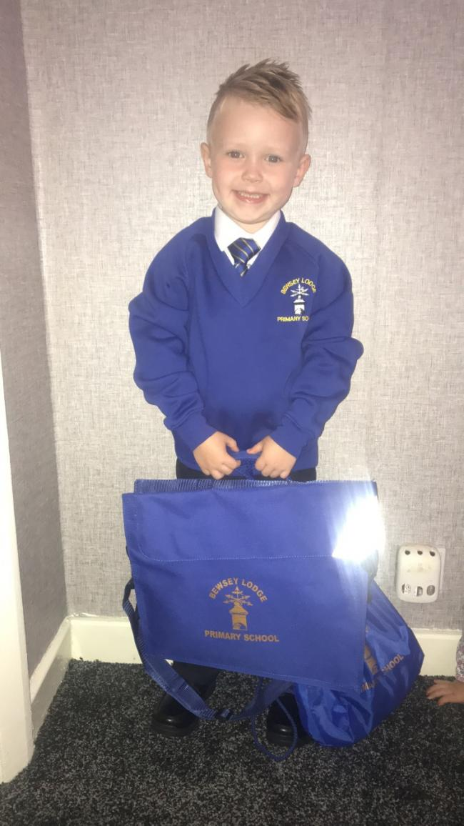 Curtis Shackleton 1st day in reception at Bewsey lodge primary school  Scarlett Shackleton  Attending Bewsey lodge primary school nursery