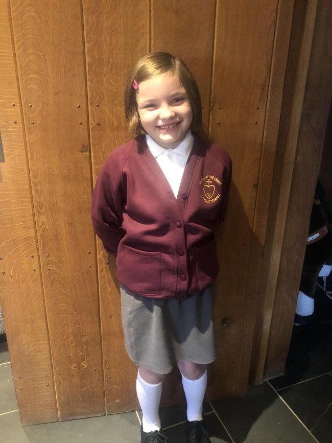 Darcie Abbey's first day in year 4 at St Paul of The Cross Primary Burtonwood.
