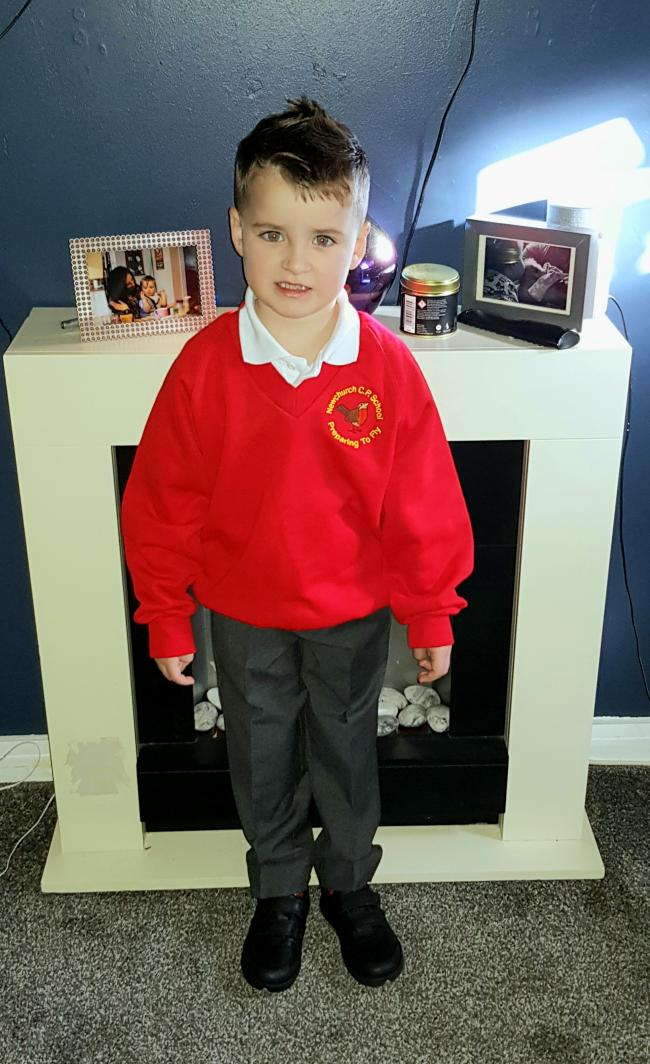 Ellis Peter Cushion Year 1 at Newchurch Primary School, culcheth. His sister, Avie Harper Cushion due to start her first year at Newchurch Pre-school, culcheth. Both so very excited for school to start again!