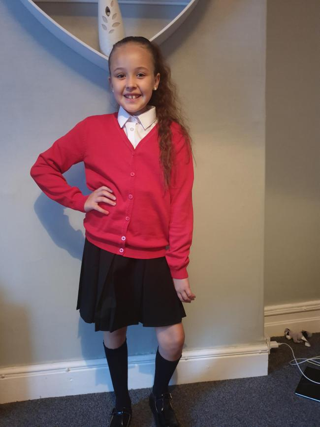 Mia age 4 first day in reception a Beaumont primary  Yvie mai age 10 year 6 Beaumont primary