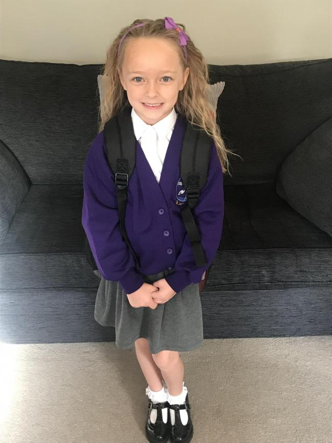Phoebe Cowell Age 6  Start of year 2 at Sankey Valley St James School