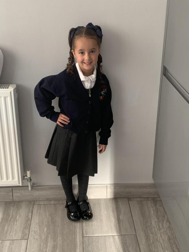 Leyla BAYLAM starting year 1 at Callands primary school