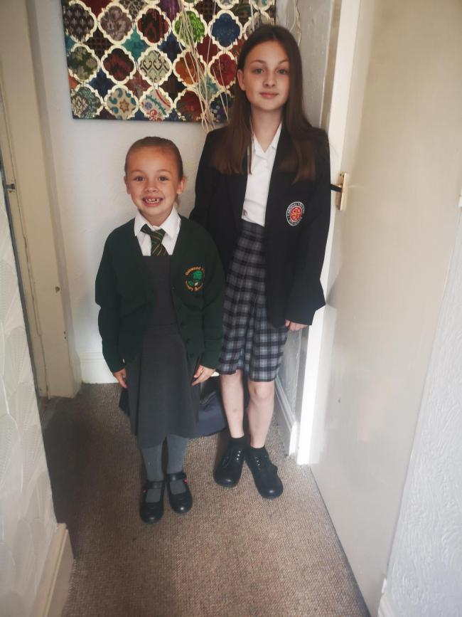 Phoebe Bremner-Daniels going into Year 2 at Oakwood Avenue Primary and Kimberley Bremner going into Year 8 at Cardinal Newman highschool