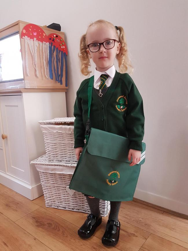 Stevie Mcloughlin  1st day of reception (03.09.19) Oakwood Avenue Community Primary School