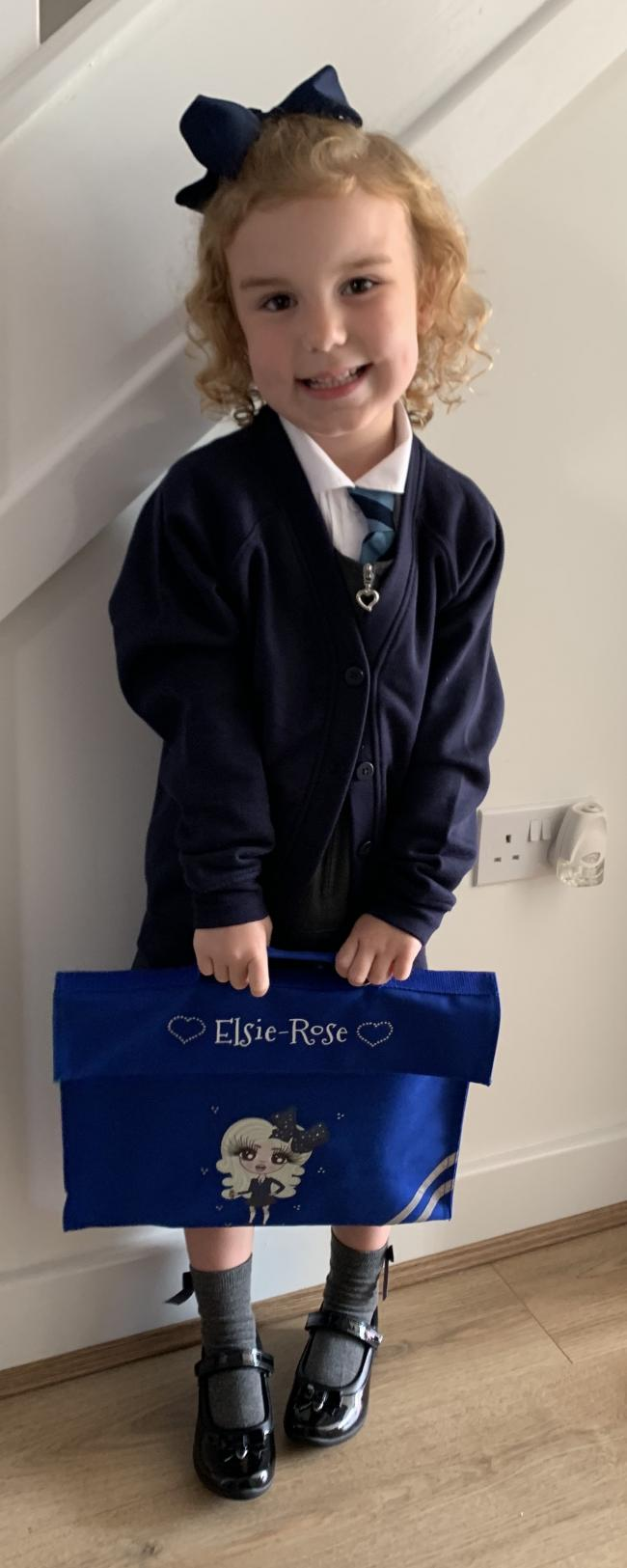Elsie-Rose ready for her first day at Christ Church