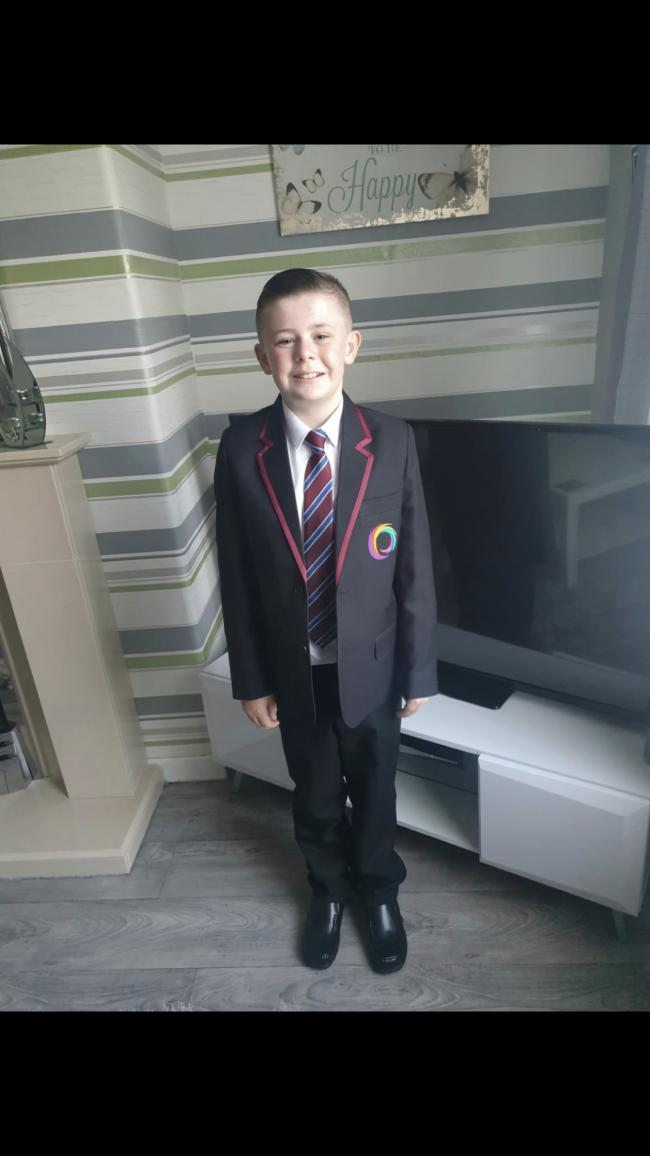 Logan Brookes first day In year 7