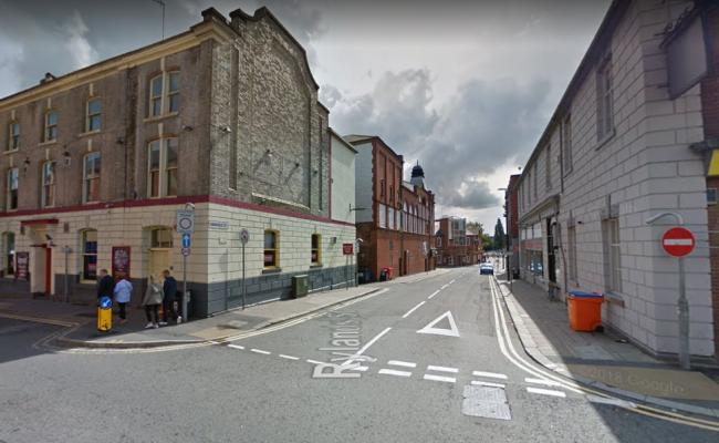 The incident erupted on Barbauld Street in the town centre. Picture by Google Maps.