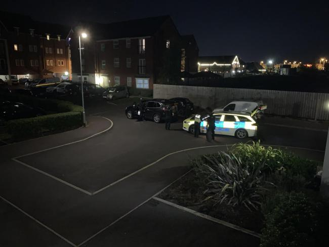 Armed police on Orleans Court in Chapelford