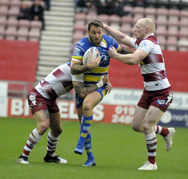 As it stands, Warrington Wolves would travel to Wigan Warriors in the first round of the play-offs. Picture by Mike Boden