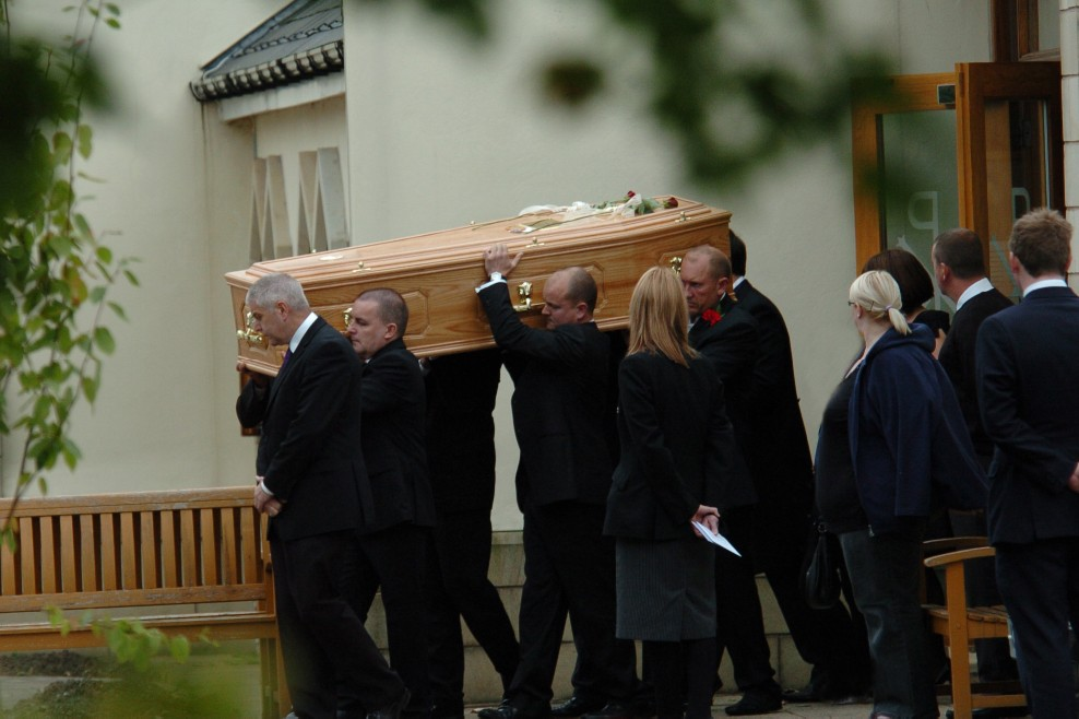 Howard New's funeral on Monday