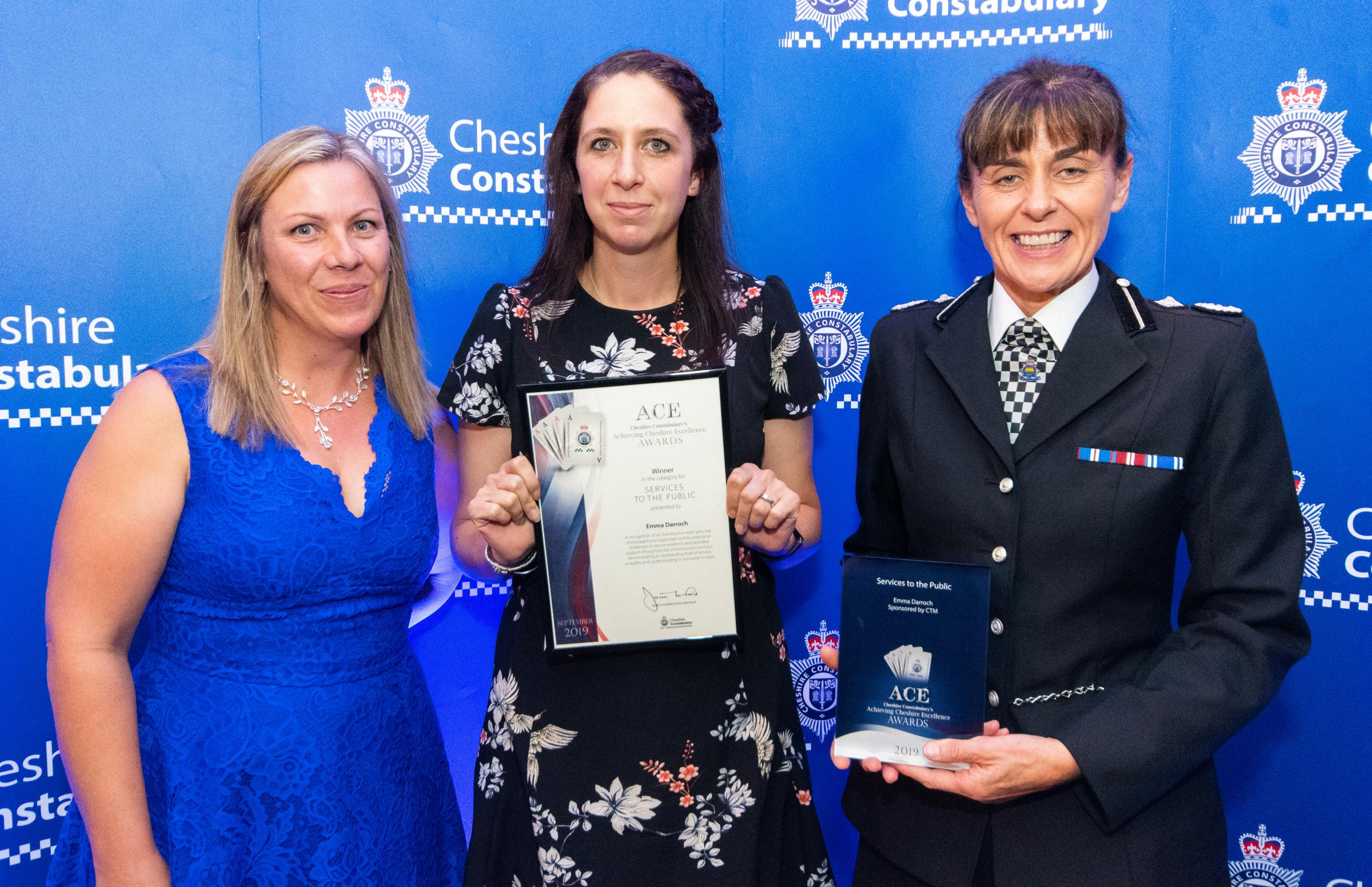 PCSO rewarded for regularly helping victim of serious collision